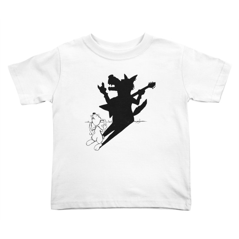 Hare Guitar Kids Toddler T-Shirt by Illustrated Madness