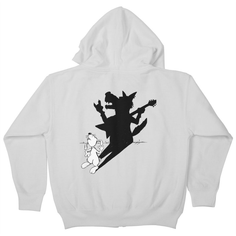 Hare Guitar Kids Zip-Up Hoody by Illustrated Madness