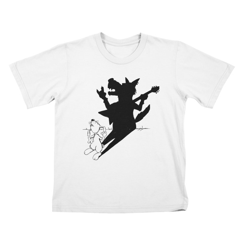 Hare Guitar Kids T-shirt by Illustrated Madness