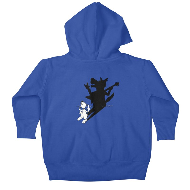 Hare Guitar Kids Baby Zip-Up Hoody by Illustrated Madness