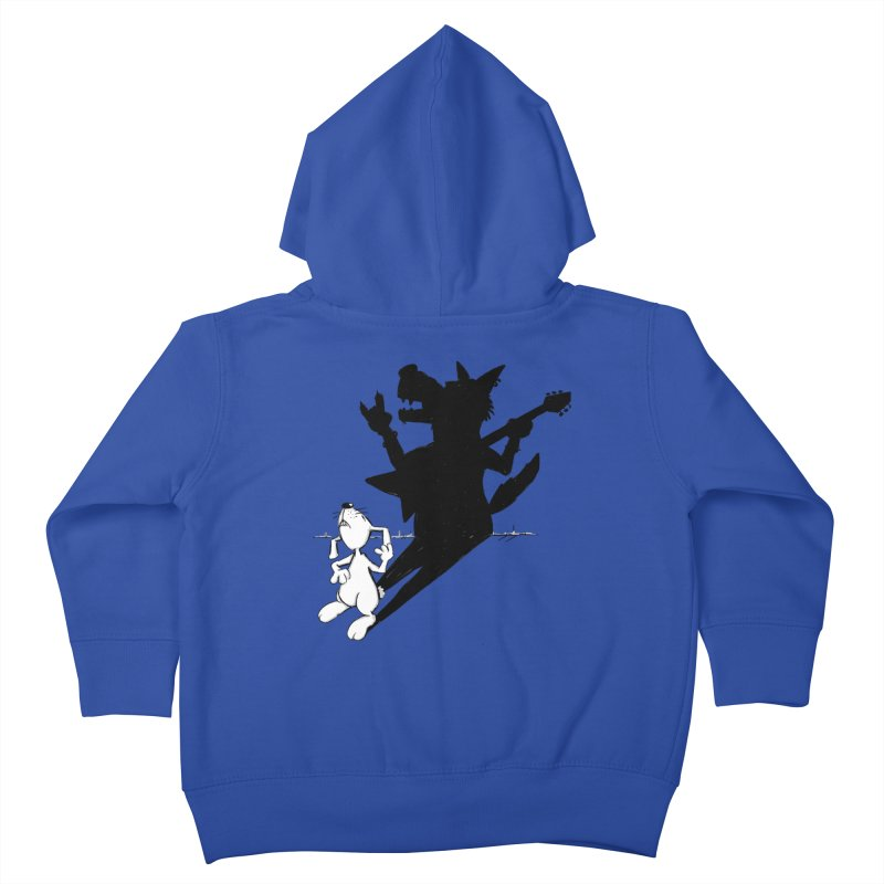 Hare Guitar Kids Toddler Zip-Up Hoody by Illustrated Madness