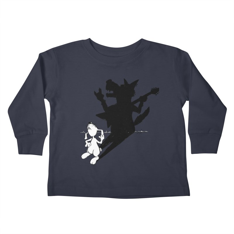 Hare Guitar Kids Toddler Longsleeve T-Shirt by Illustrated Madness