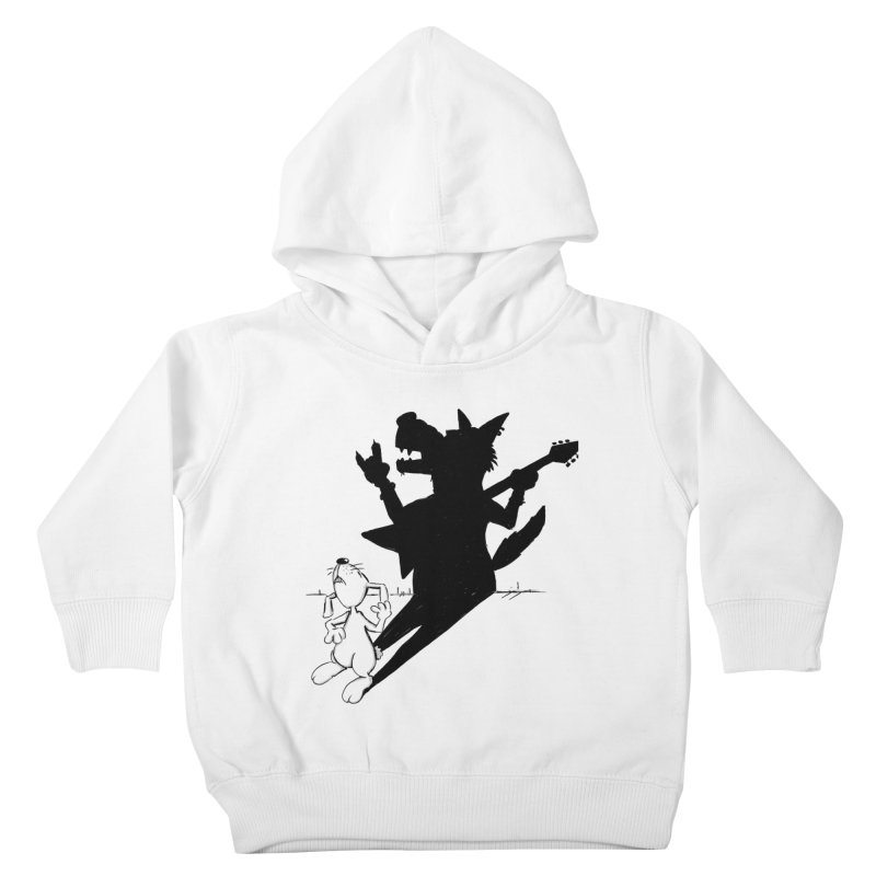Hare Guitar Kids Toddler Pullover Hoody by Illustrated Madness