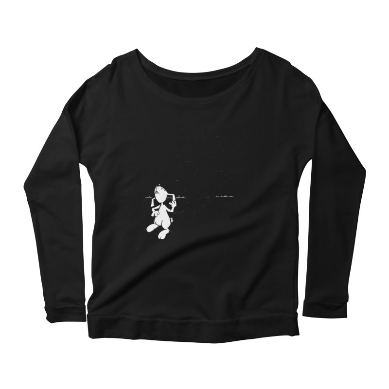 Hare Guitar Women's Longsleeve Scoopneck  by Illustrated Madness