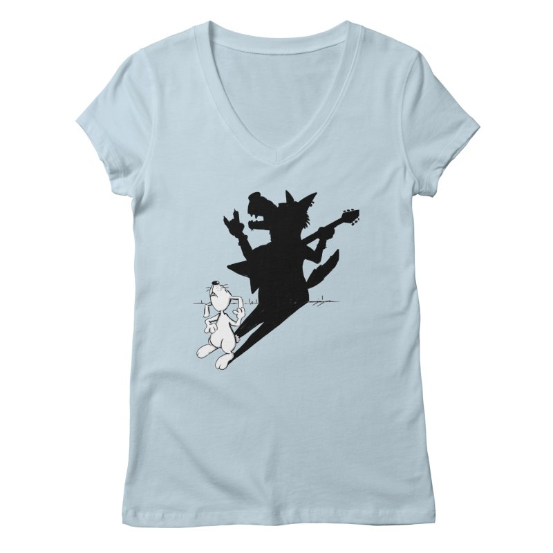 Hare Guitar Women's V-Neck by Illustrated Madness