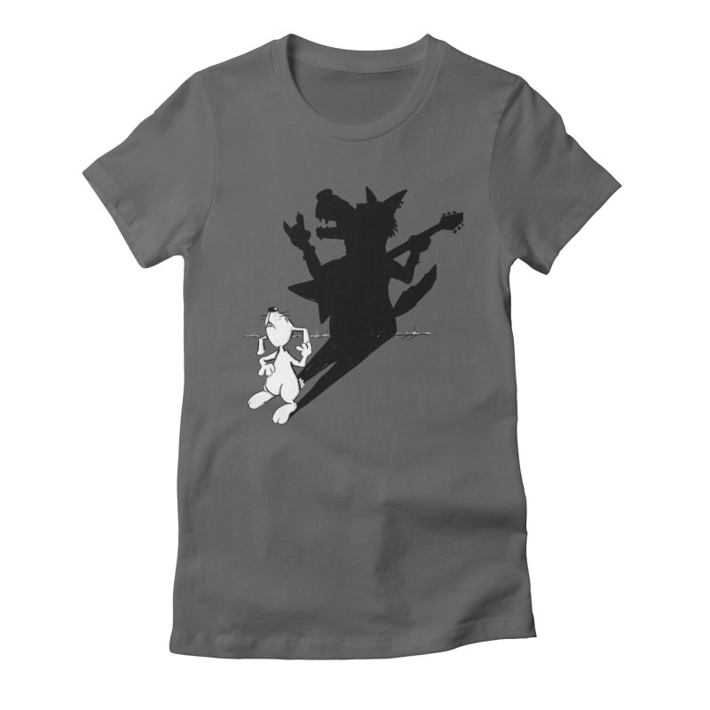 Hare Guitar Women's Fitted T-Shirt by Illustrated Madness