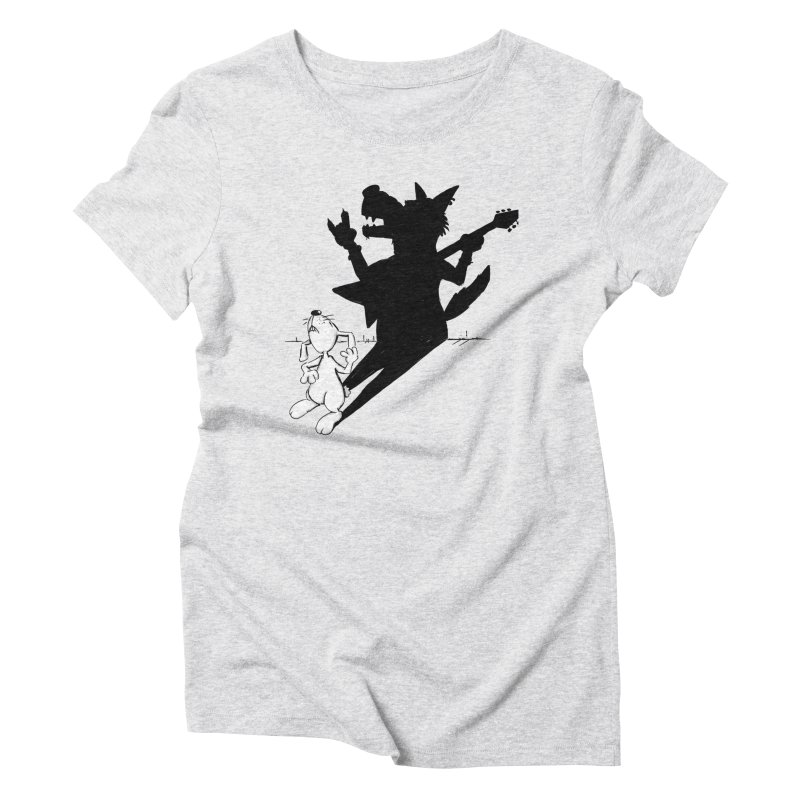 Hare Guitar Women's Triblend T-shirt by Illustrated Madness
