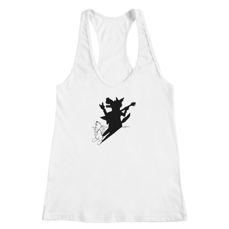 Hare Guitar Women's Racerback Tank by Illustrated Madness