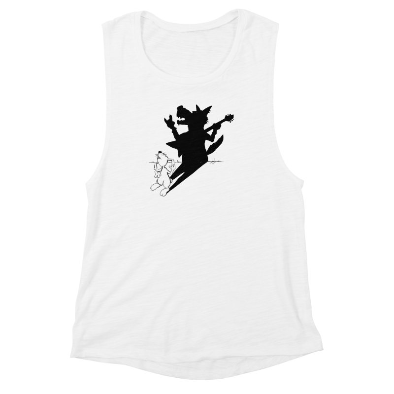 Hare Guitar Women's Muscle Tank by Illustrated Madness