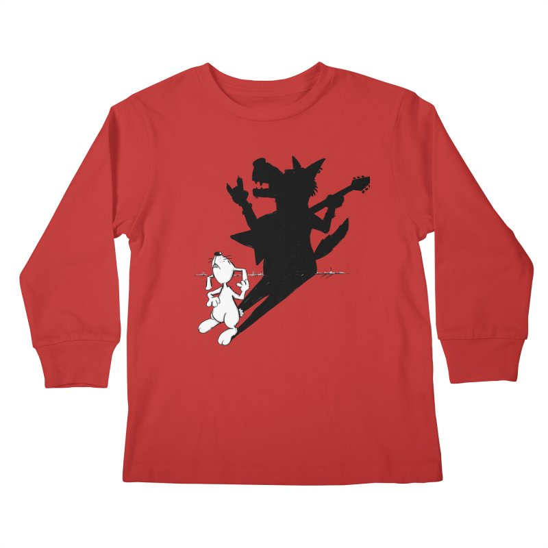 Hare Guitar Kids Longsleeve T-Shirt by Illustrated Madness