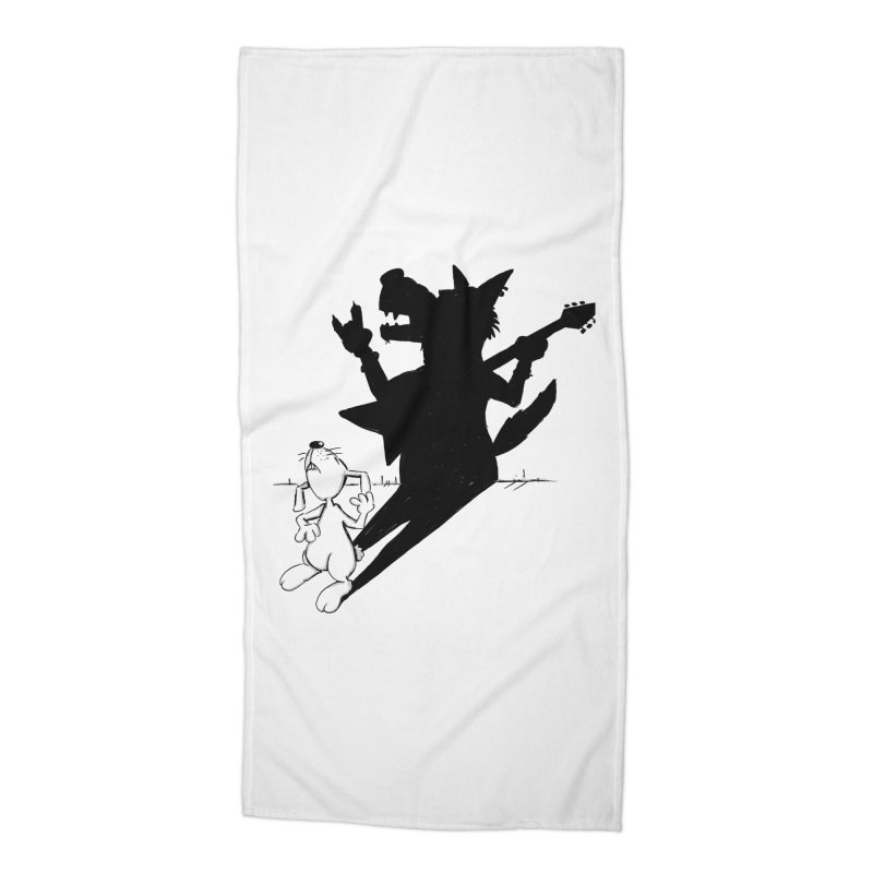 Hare Guitar Accessories Beach Towel by Illustrated Madness