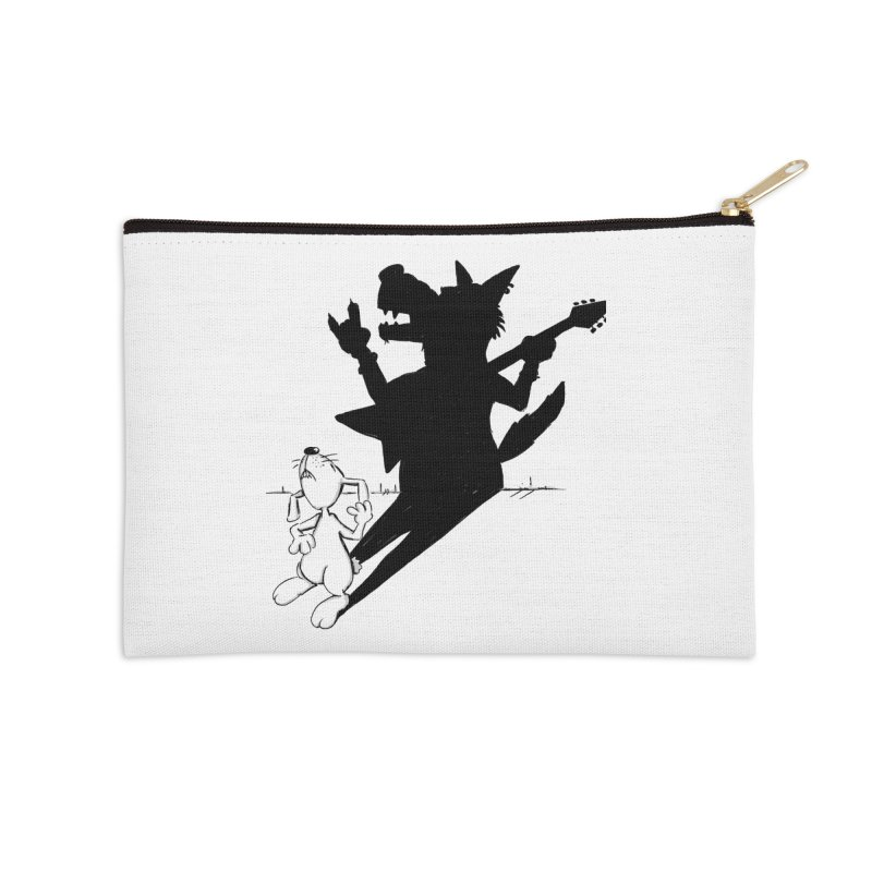 Hare Guitar Accessories Zip Pouch by Illustrated Madness