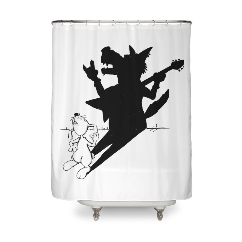 Hare Guitar Home Shower Curtain by Illustrated Madness