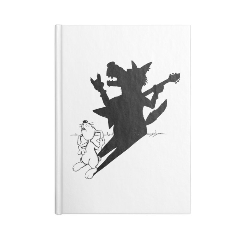 Hare Guitar Accessories Notebook by Illustrated Madness