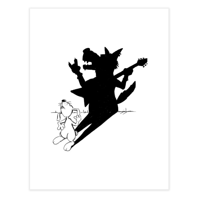 Hare Guitar Home Fine Art Print by Illustrated Madness