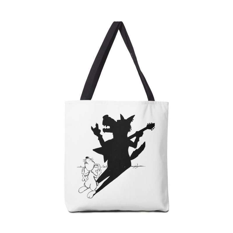 Hare Guitar Accessories Tote Bag Bag by Illustrated Madness