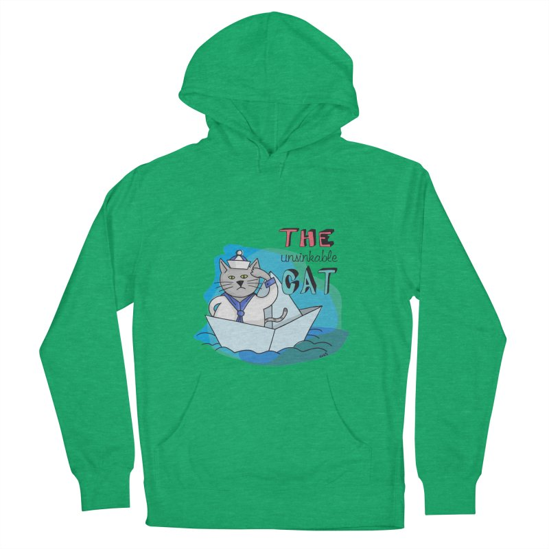 Sam, the unsinkable Cat Women's Pullover Hoody by Illustrated Madness