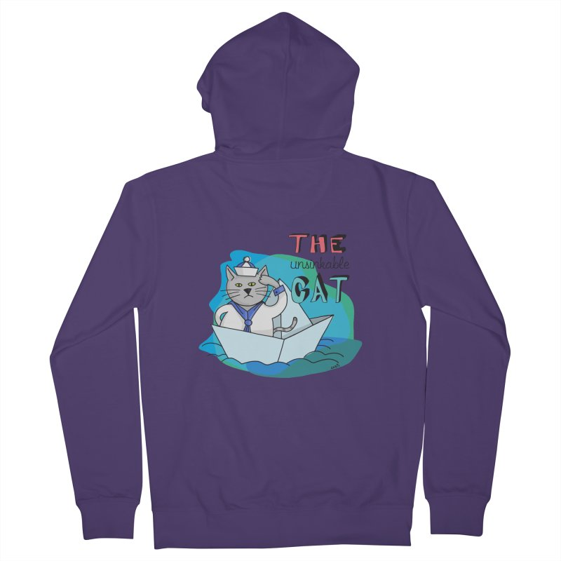 Sam, the unsinkable Cat Women's Zip-Up Hoody by Illustrated Madness
