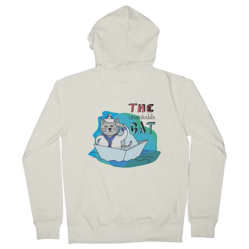 Sam, the unsinkable Cat Men's Zip-Up Hoody by Illustrated Madness