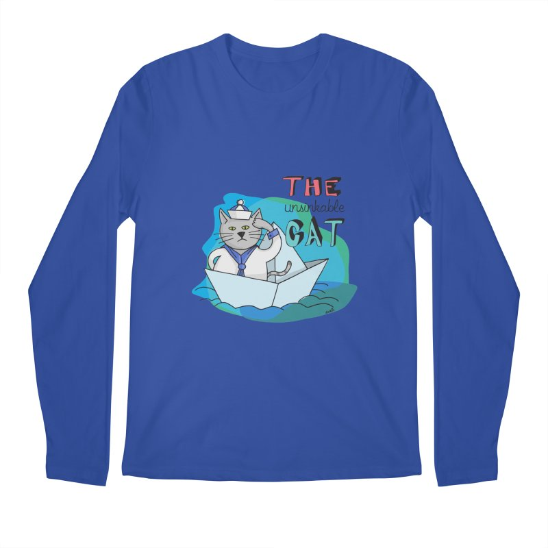 Sam, the unsinkable Cat Men's Longsleeve T-Shirt by Illustrated Madness