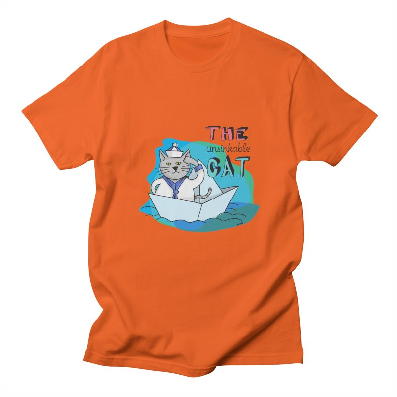 Sam, the unsinkable Cat Men's T-Shirt by Illustrated Madness