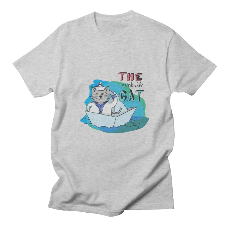 Sam, the unsinkable Cat Women's Unisex T-Shirt by Illustrated Madness