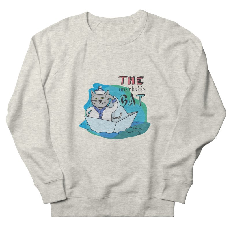 Sam, the unsinkable Cat Men's Sweatshirt by Illustrated Madness