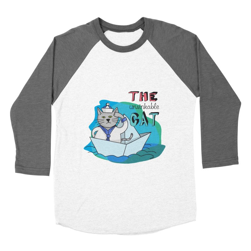 Sam, the unsinkable Cat Women's Baseball Triblend T-Shirt by Illustrated Madness