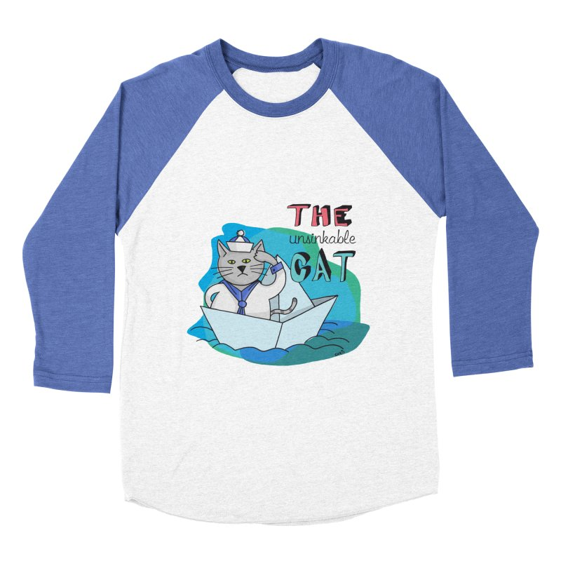 Sam, the unsinkable Cat Men's Baseball Triblend T-Shirt by Illustrated Madness