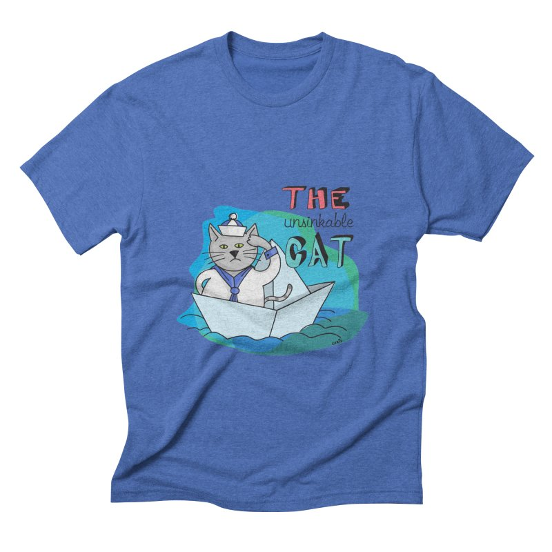 Sam, the unsinkable Cat Men's Triblend T-shirt by Illustrated Madness