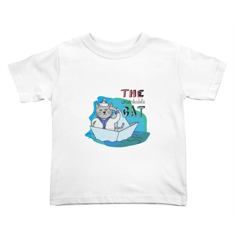 Sam, the unsinkable Cat Kids Toddler T-Shirt by Illustrated Madness