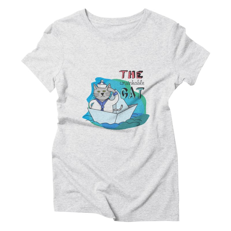 Sam, the unsinkable Cat Women's T-Shirt by Illustrated Madness