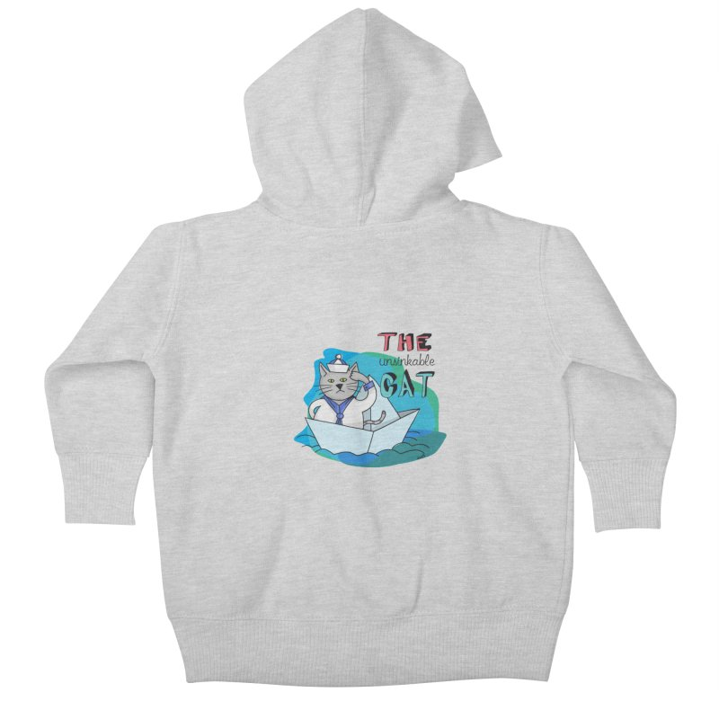 Sam, the unsinkable Cat Kids Baby Zip-Up Hoody by Illustrated Madness