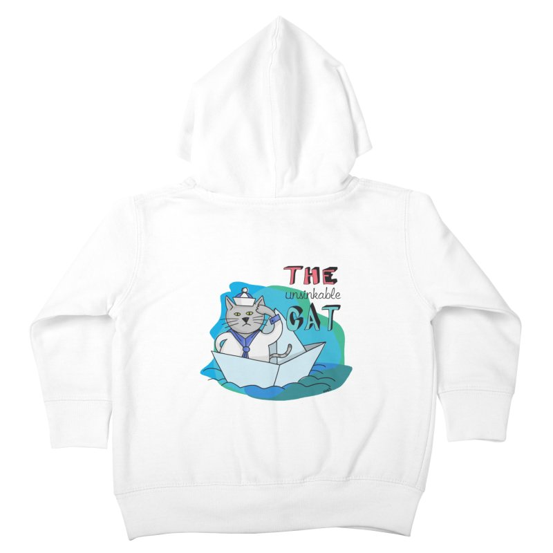 Sam, the unsinkable Cat Kids Toddler Zip-Up Hoody by Illustrated Madness