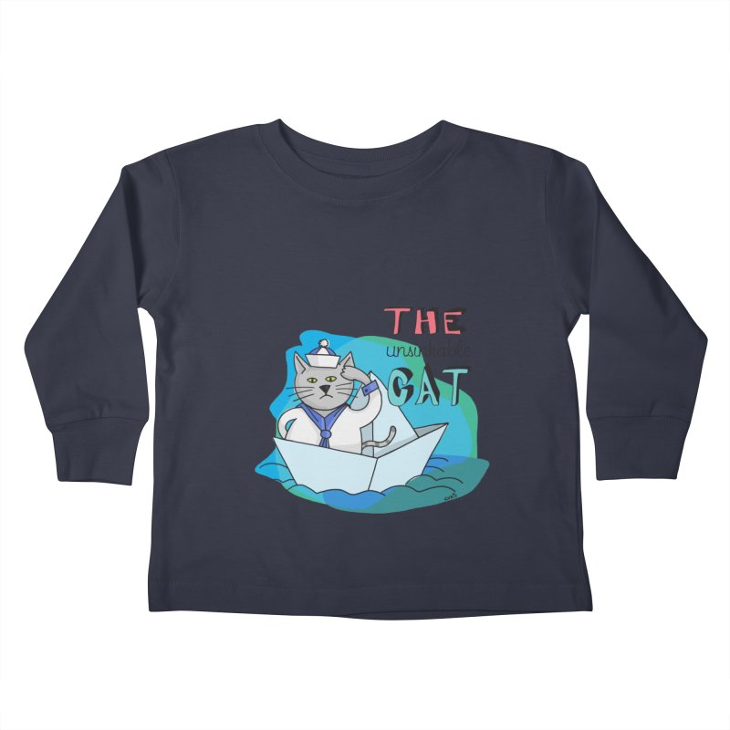 Sam, the unsinkable Cat Kids Toddler Longsleeve T-Shirt by Illustrated Madness