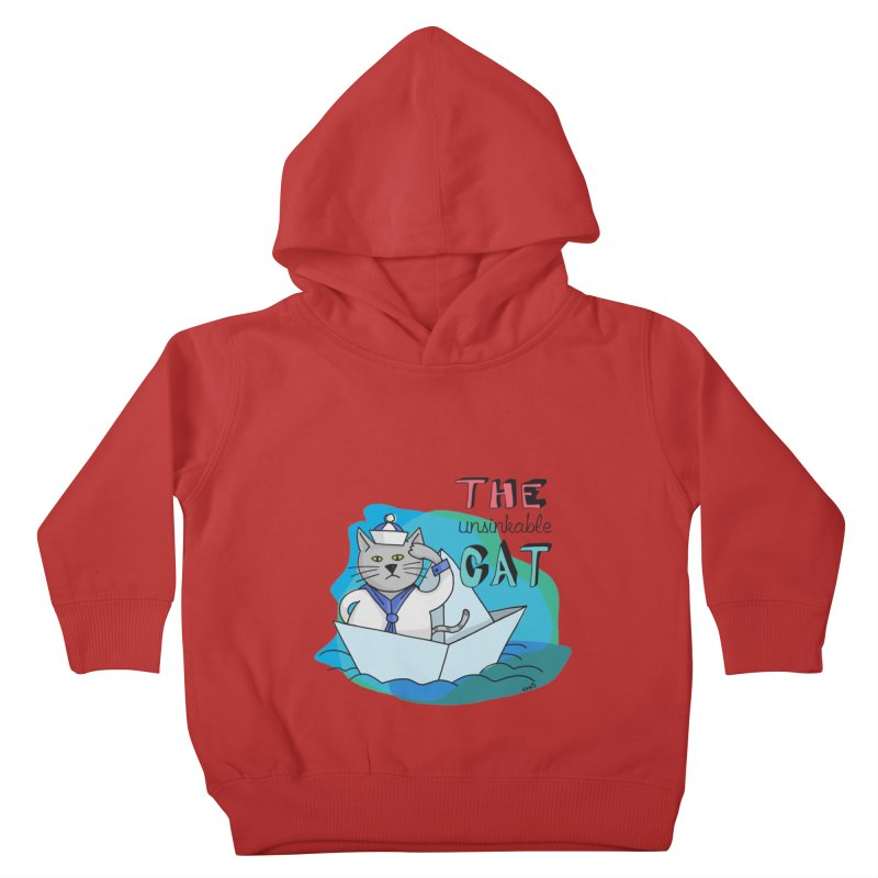 Sam, the unsinkable Cat Kids Toddler Pullover Hoody by Illustrated Madness