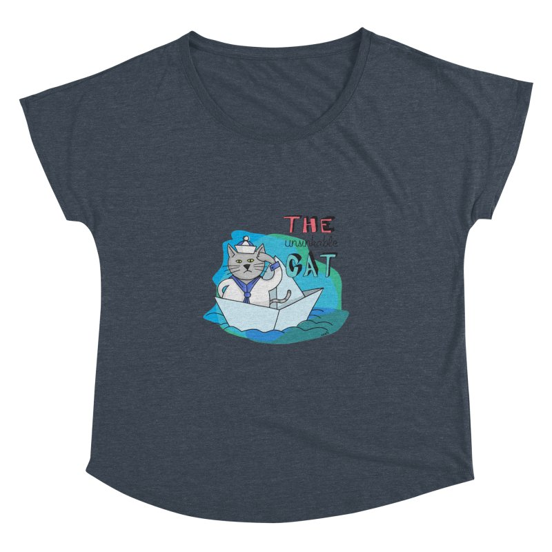 Sam, the unsinkable Cat Women's Dolman by Illustrated Madness