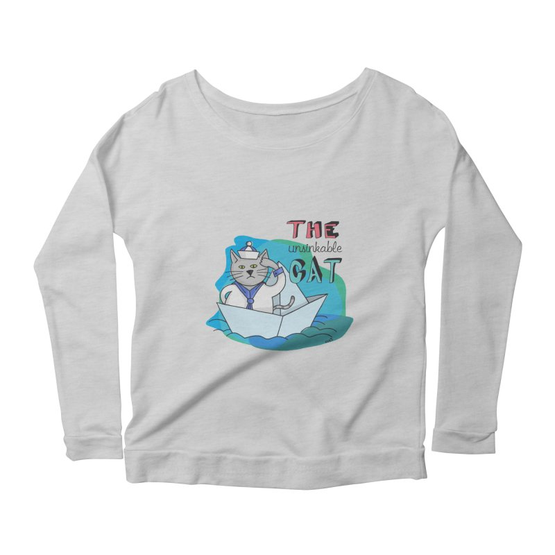 Sam, the unsinkable Cat Women's Longsleeve Scoopneck  by Illustrated Madness