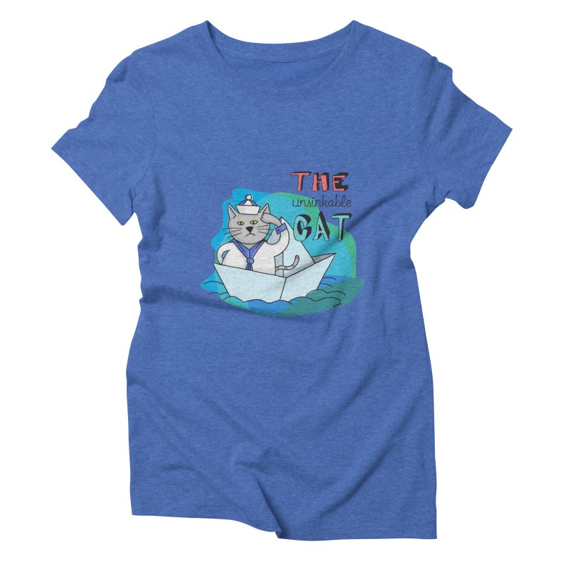 Sam, the unsinkable Cat Women's Triblend T-shirt by Illustrated Madness