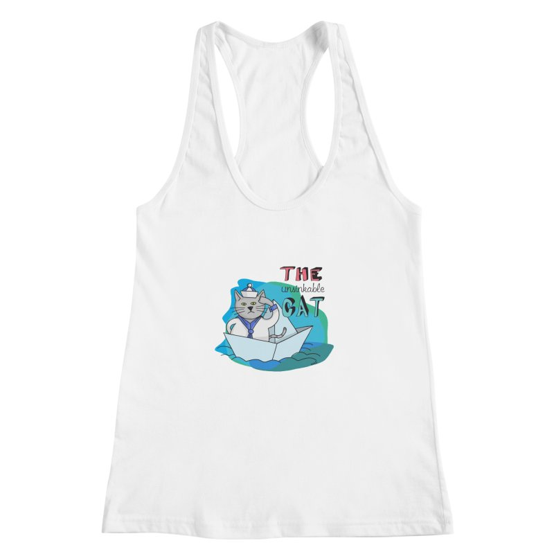 Sam, the unsinkable Cat Women's Racerback Tank by Illustrated Madness
