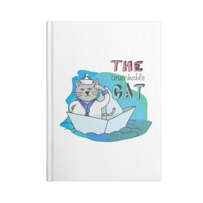Sam, the unsinkable Cat Accessories Notebook by Illustrated Madness