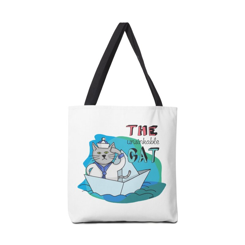 Sam, the unsinkable Cat Accessories Tote Bag Bag by Illustrated Madness