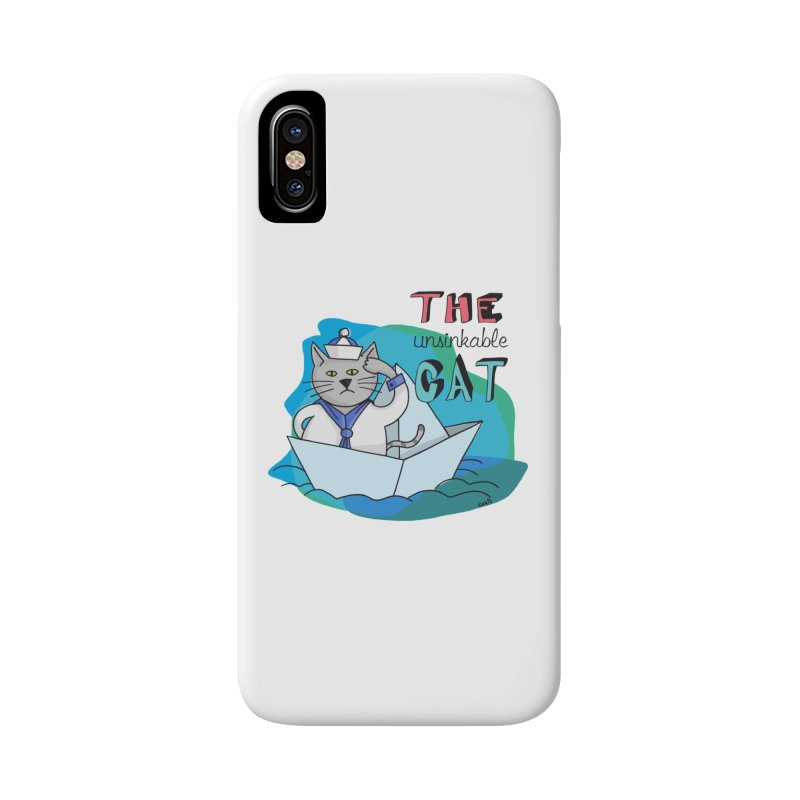 Sam, the unsinkable Cat Accessories Phone Case by Illustrated Madness