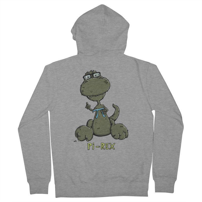 Pi-Rex Men's Zip-Up Hoody by Illustrated Madness