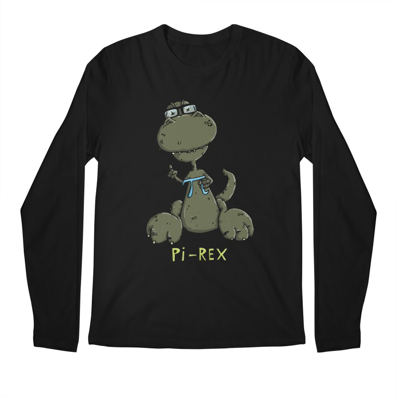 Pi-Rex Men's Longsleeve T-Shirt by Illustrated Madness