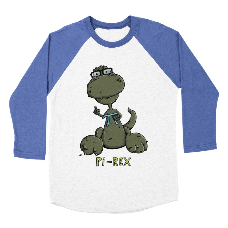 Pi-Rex Women's Baseball Triblend T-Shirt by Illustrated Madness