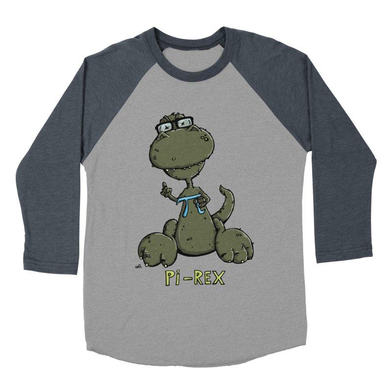 Pi-Rex Women's Baseball Triblend T-Shirt by Illustrated Madness