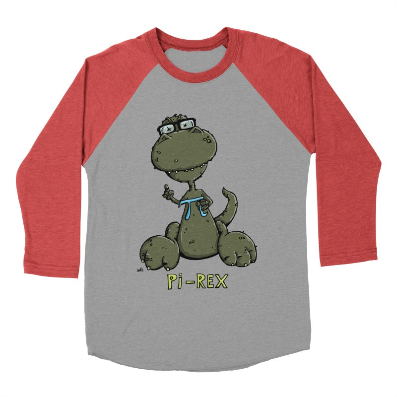 Pi-Rex Men's Baseball Triblend T-Shirt by Illustrated Madness