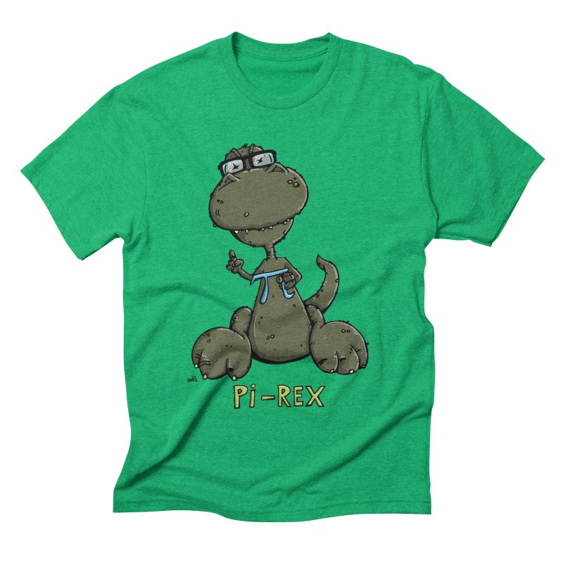 Pi-Rex Men's Triblend T-shirt by Illustrated Madness