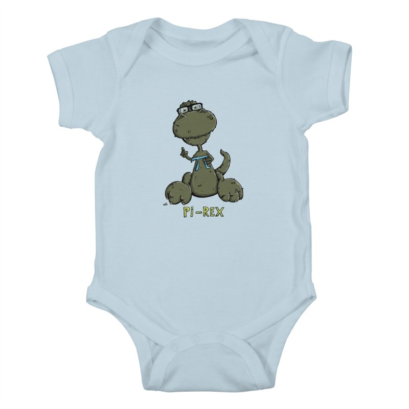 Pi-Rex Kids Baby Bodysuit by Illustrated Madness